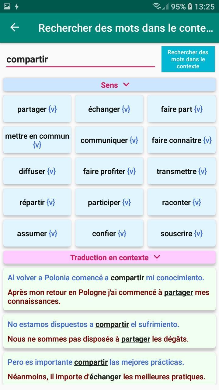 Espagnol Verbe Conjugaison Conjugateur Traduction Pour Android Telechargez L Apk
