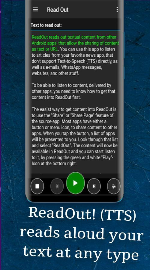 ReadOut! (TTS, read aloud, Text-to-Speech) 📣 for Android