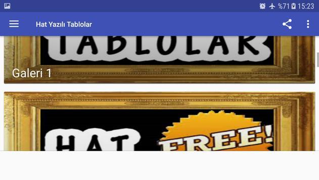 Hat Yazılı Tablolar screenshot 6