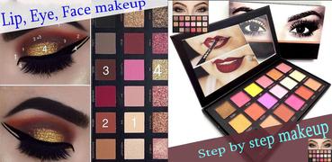Schritt für Schritt Make-up (Lippe, Auge, Gesicht)