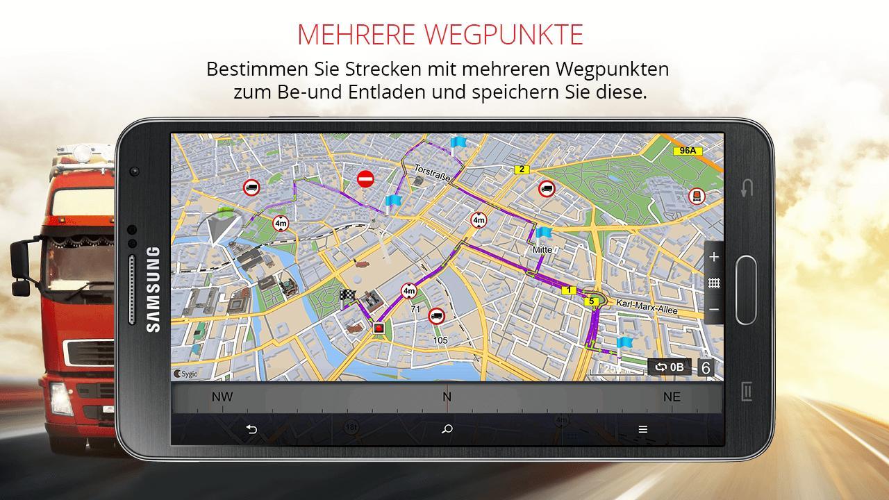 Sygic LKW & Wohnmobil GPS Navigation für Android - APK herunterladen