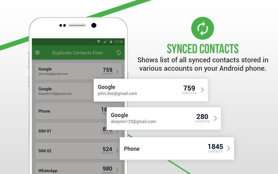 Duplicate Contacts Fixer स्क्रीनशॉट 9