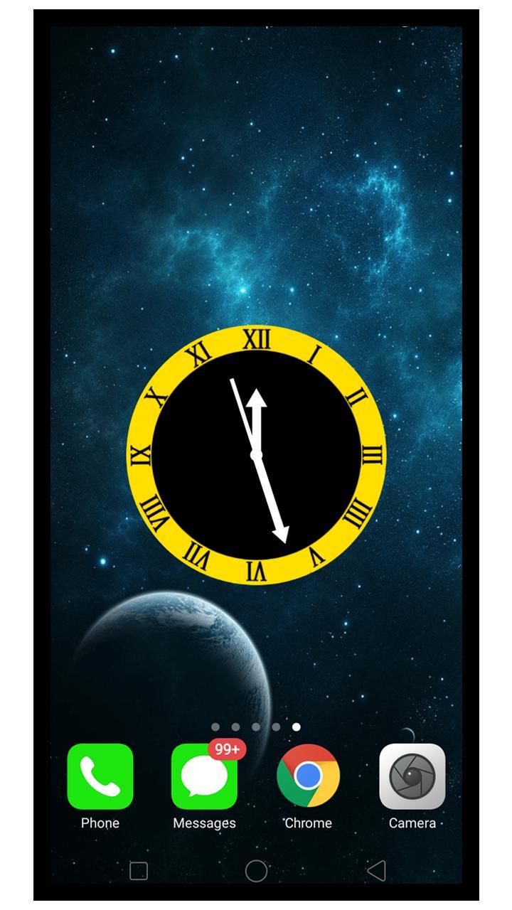 Android 用の 夜 スマート 時計 銀河 壁紙 クロック Apk をダウンロード