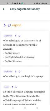 Easy English Dictionary screenshot 1