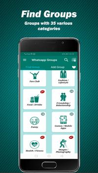 Groupzing :group links for whatsapp :meet people poster