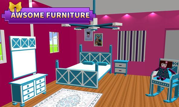 娃娃 屋 設計 & 裝飾: 女孩 屋 遊戲 截圖 5