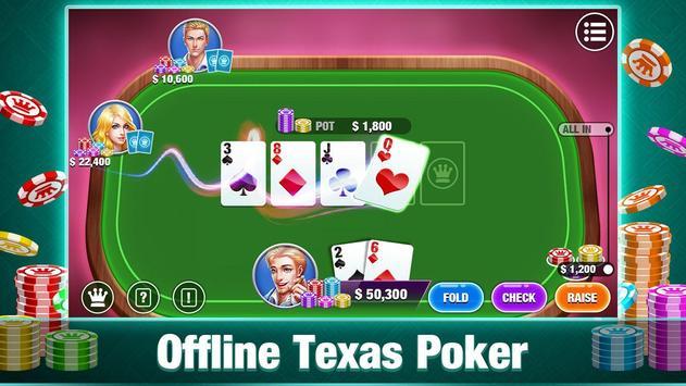 Texas Holdem Poker Offline:Free Texas Poker Games poster
