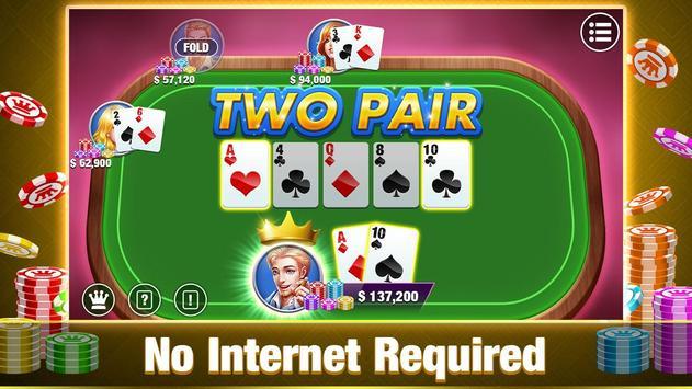 Texas Holdem Poker Offline:Free Texas Poker Games screenshot 1