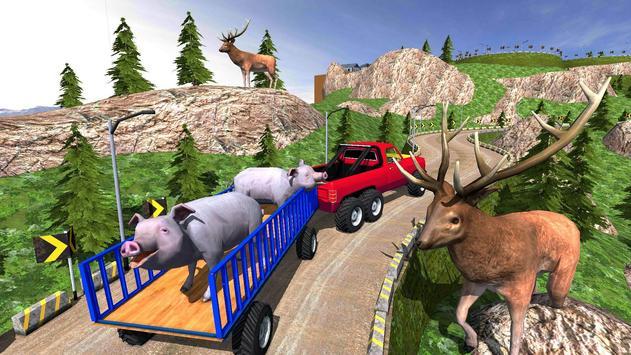 Animal Safari 6X6 Transport Truck Driving screenshot 14