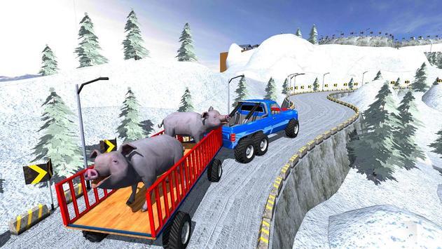Animal Safari 6X6 Transport Truck Driving screenshot 1