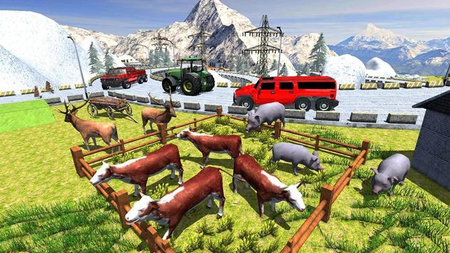 Animal Safari 6X6 Transport Truck Driving screenshot 2