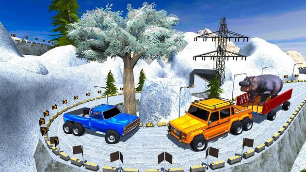 Animal Safari 6X6 Transport Truck Driving screenshot 5