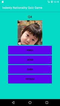 Indenty Nationality Quiz Game screenshot 2