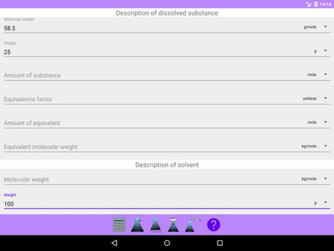 Chemistry solution calculator screenshot 10