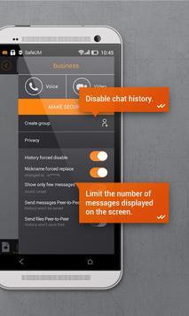Secure messenger SafeUM captura de pantalla 1