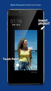 Touch Lock Screen- Easy & strong Black Password screenshot 5