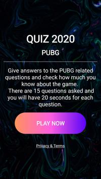 Quiz PUBGMs Battlegrounds Latest 2020 screenshot 1