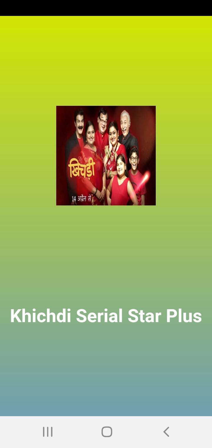 Khichdi Serial