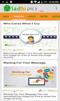 Sad Dp and Status Images, Quotes screenshot 1