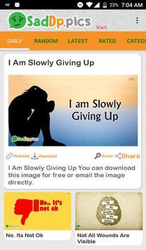 Sad Dp and Status Images, Quotes screenshot 4
