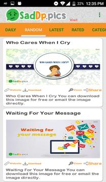 Sad Dp and Status Images, Quotes screenshot 5