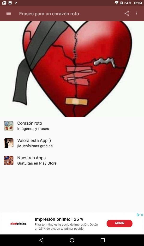 Frases Para Un Corazón Roto Pour Android Téléchargez Lapk