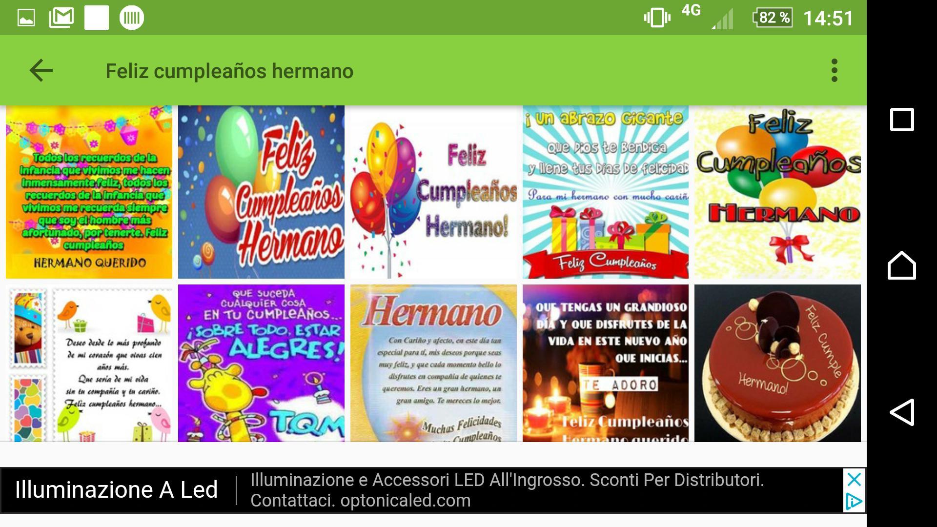 Feliz Cumpleaños Hermano Frases E Imágenes для андроид