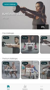 The Kettlebell Challenge - Fat Burning Workouts الملصق