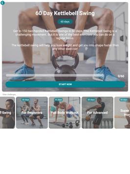 The Kettlebell Challenge - Fat Burning Workouts تصوير الشاشة 14