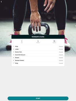 The Kettlebell Challenge - Fat Burning Workouts تصوير الشاشة 10