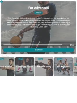 The Kettlebell Challenge - Fat Burning Workouts تصوير الشاشة 12