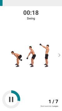 The Kettlebell Challenge - Fat Burning Workouts تصوير الشاشة 2
