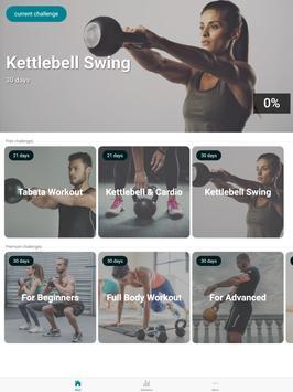 The Kettlebell Challenge - Fat Burning Workouts تصوير الشاشة 6
