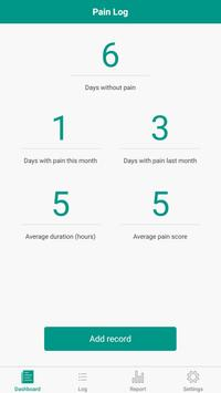 Pain Diary - Pain Management Log पोस्टर
