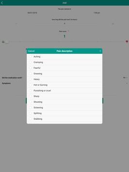 Pain Diary - Pain Management Log स्क्रीनशॉट 13