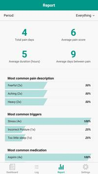 Pain Diary - Pain Management Log स्क्रीनशॉट 1