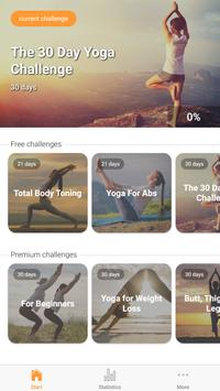 Yoga Workout Challenge - Lose weight with yoga 海报