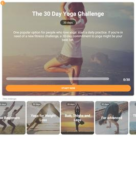 Yoga Workout Challenge - Lose weight with yoga 截图 10