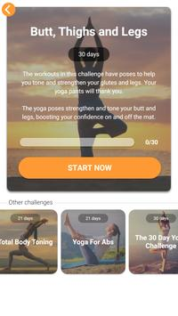 Yoga Workout Challenge - Lose weight with yoga 截图 1