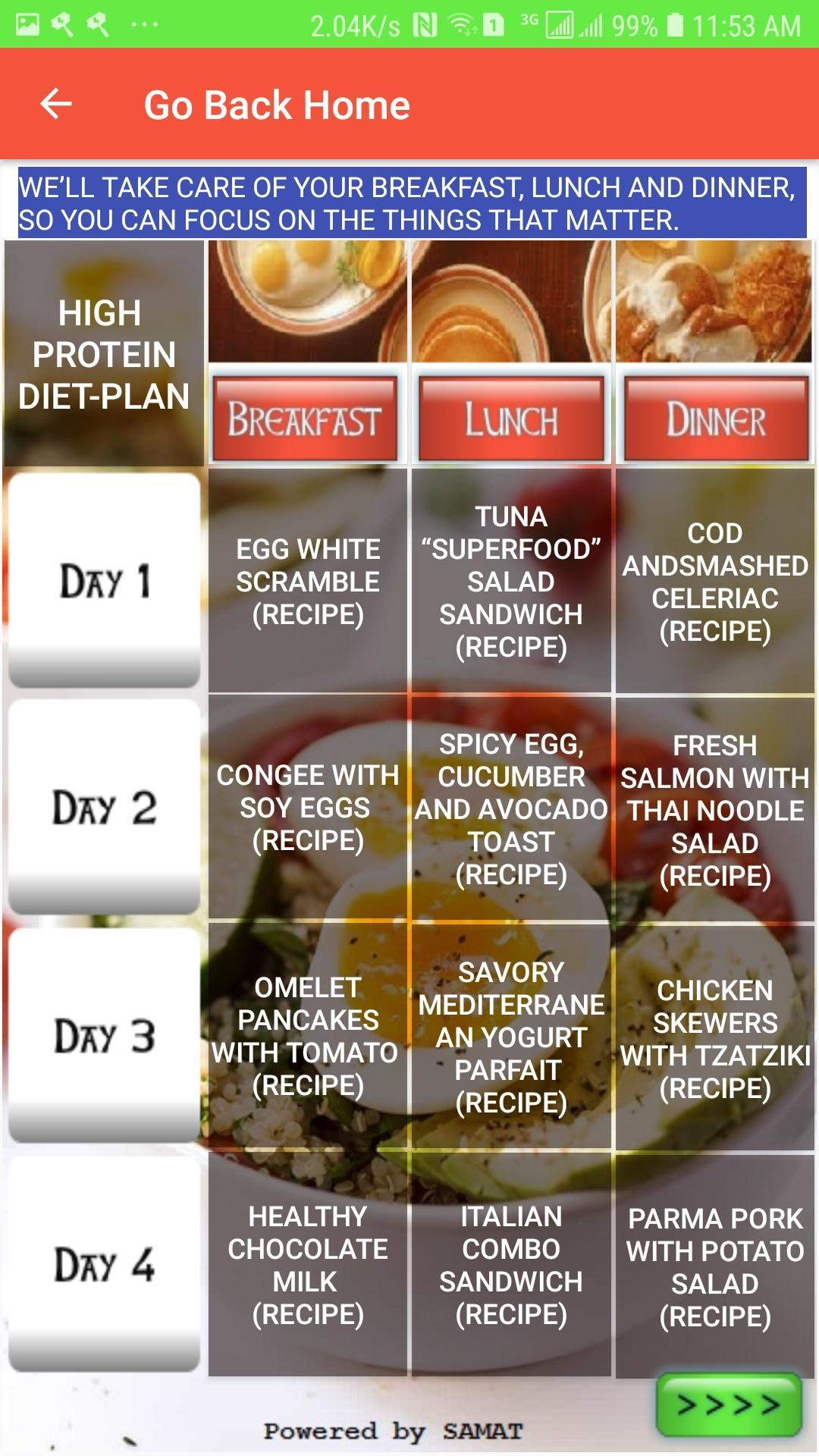 High Protein Diet Plan For Android Apk Download