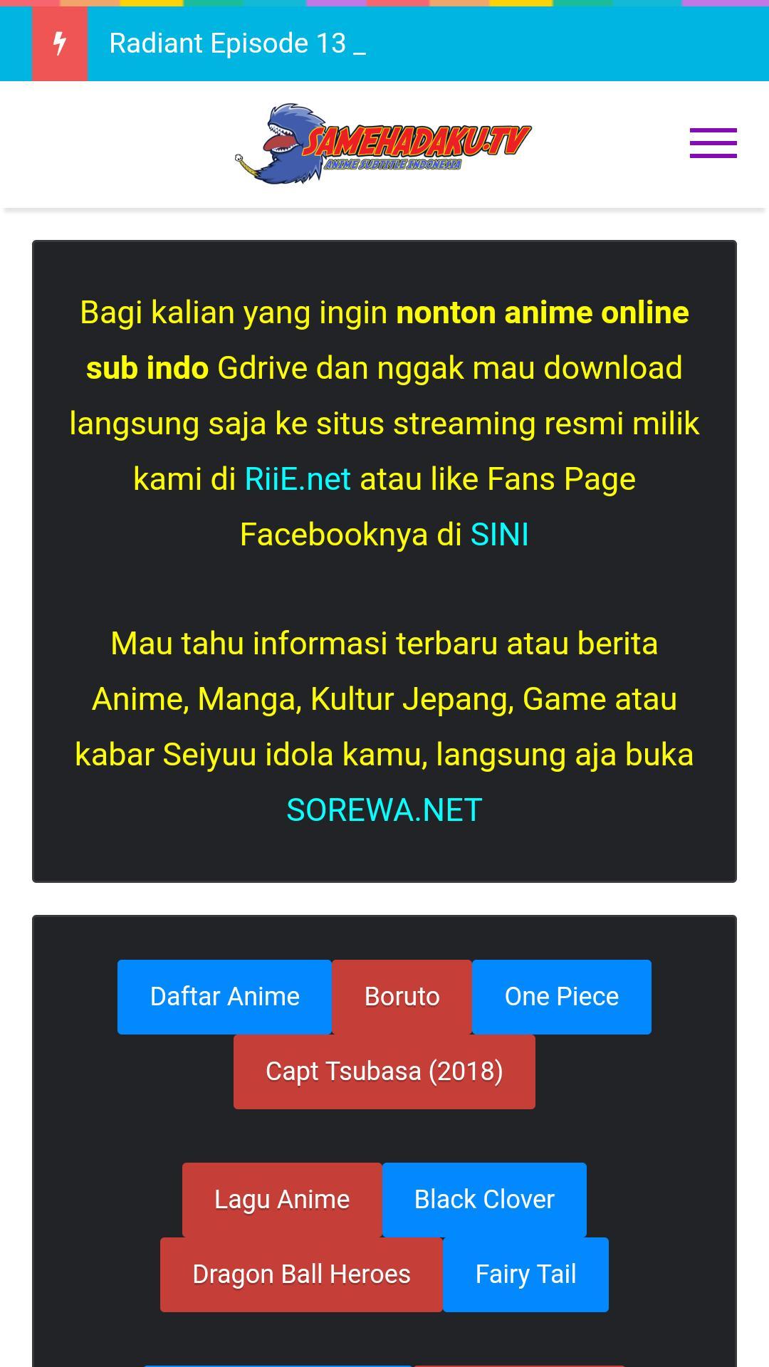 Samehadaku - Anime Subtitle Indonesia for Android - APK Download
