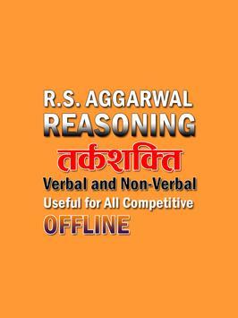 RS Aggarwal Reasoning- Verbal and Non Verbal poster