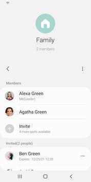 تطبيق مشاركة المجموعة تصوير الشاشة 1