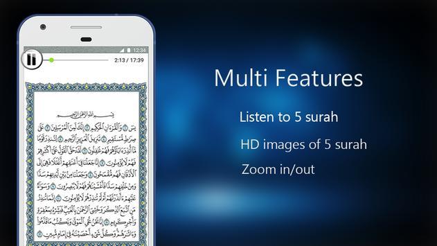 Quran 5 Surah Reading & Listening poster