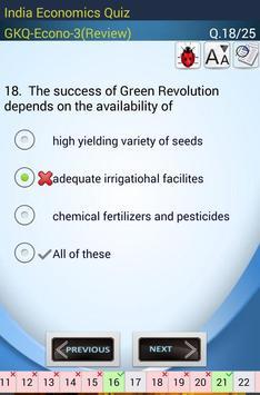 Indian Economics Quiz screenshot 10