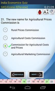 Indian Economics Quiz screenshot 20