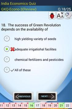Indian Economics Quiz screenshot 3
