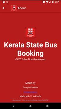 Kerala State - Bus Booking screenshot 1
