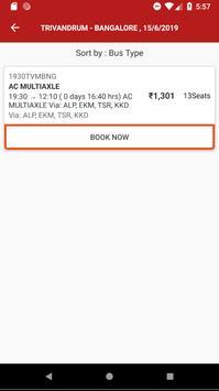 Kerala State - Bus Booking screenshot 2