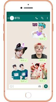 BTS Sticker Whatsapp - WAStickerApps 截图 4